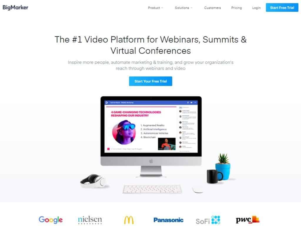 Best Webinar Software - BigMarker