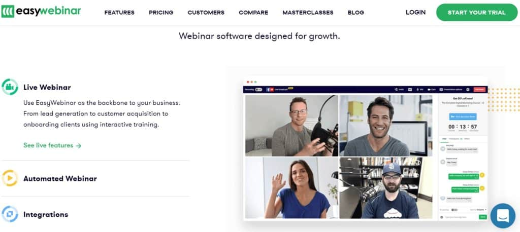Best Webinar Software - EasyWebinar